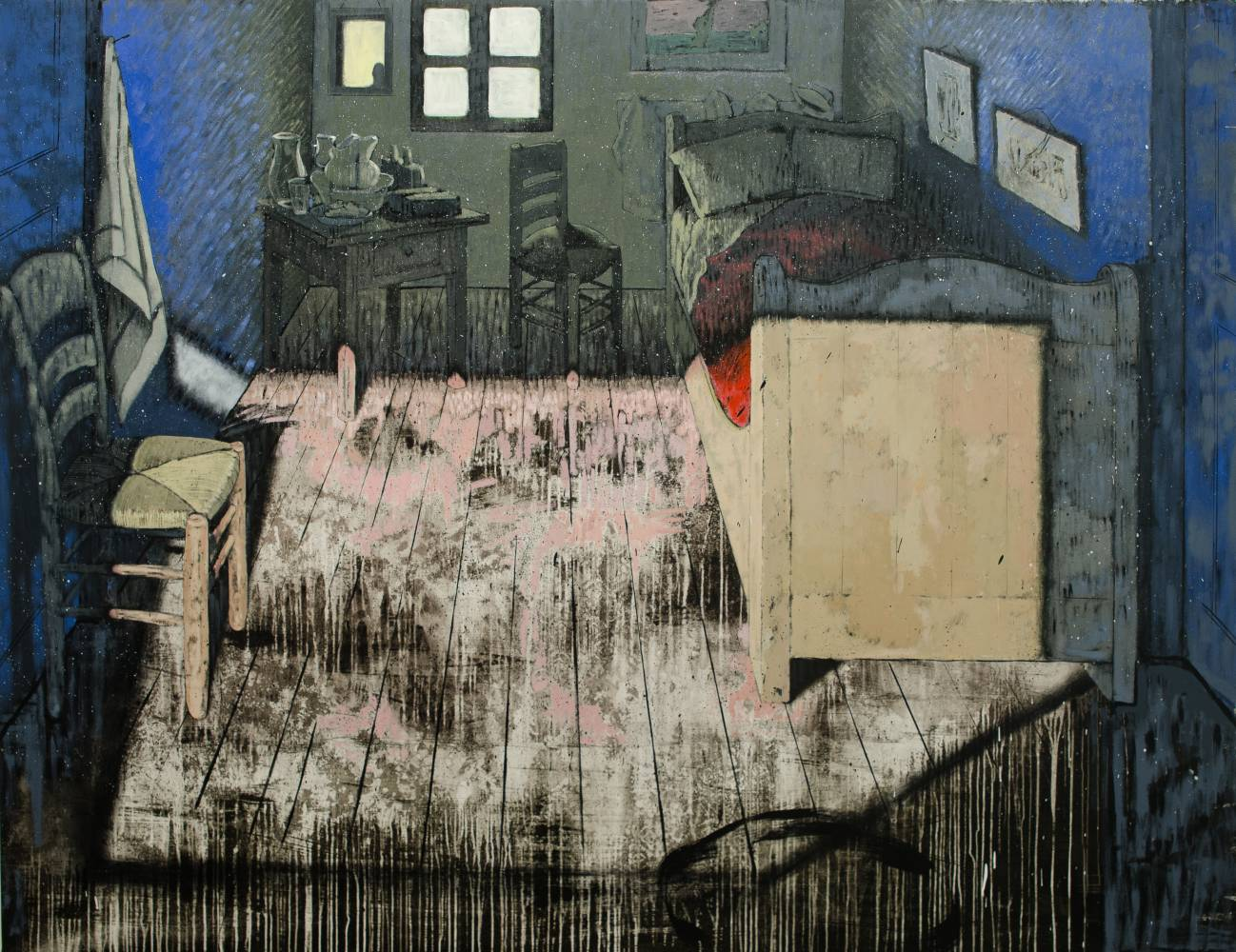 The painter\'s room / 195 x 250 cm / acrylic on canvas / 2015