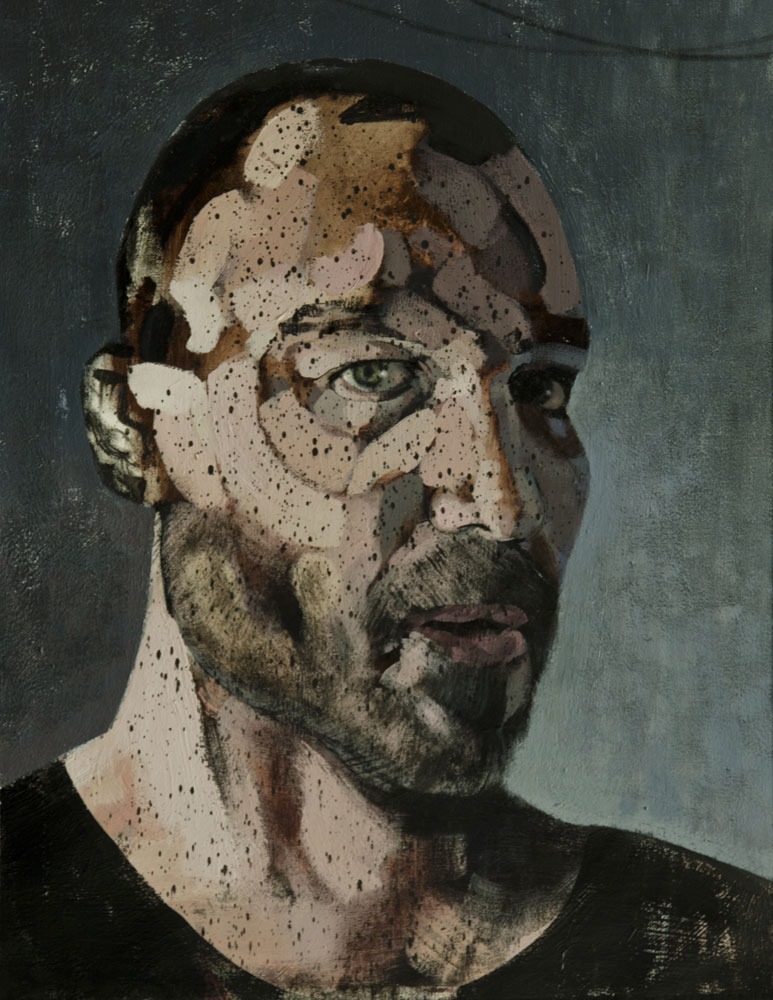 selfportrait 2013, 2014 acrylic on canvas 45x35 cm