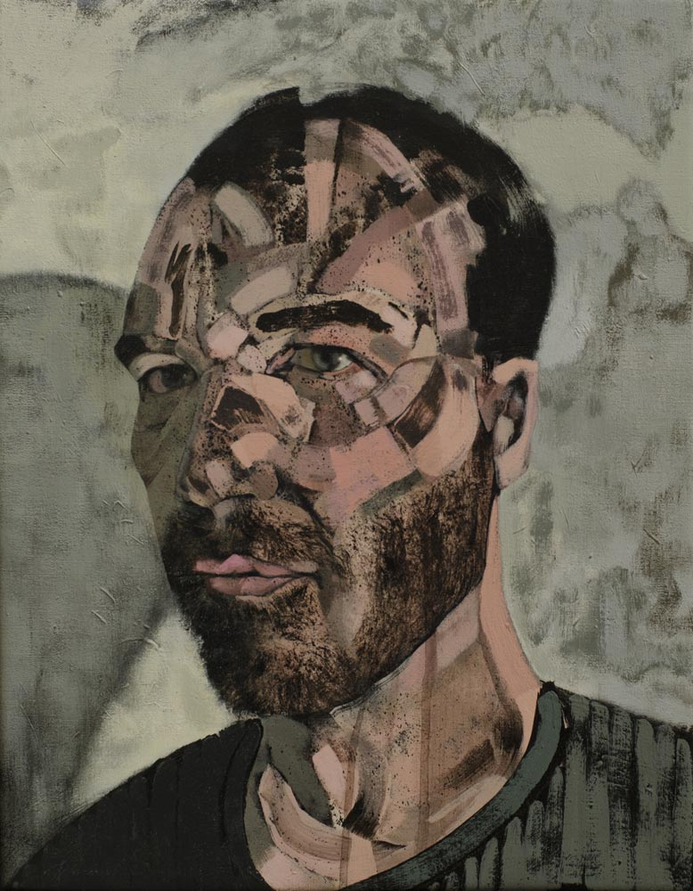 selfportrait 2014, 2014 acrylic on canvas 45x35 cm