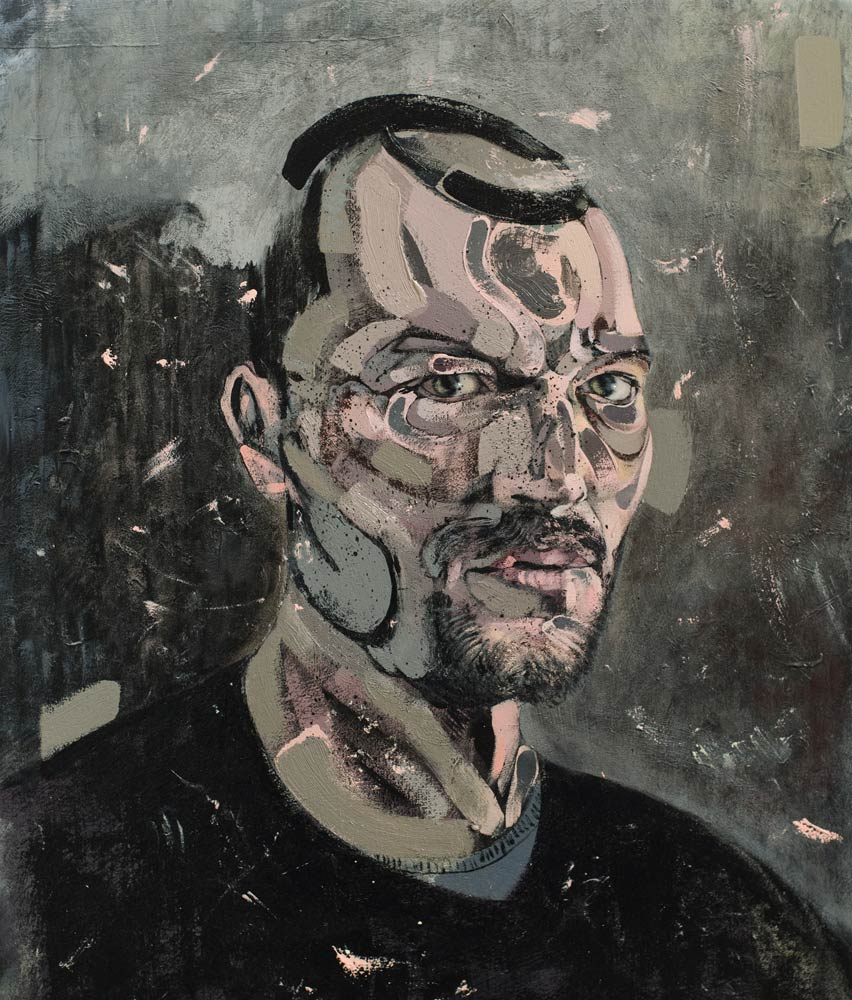 selfportrait 2015, 2015 acrylic and oil on canvas 50x40 cm